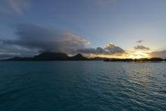 Beautiful panorama of tropical sunset Stock Photo