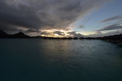 Beautiful panorama of tropical sunset Stock Image