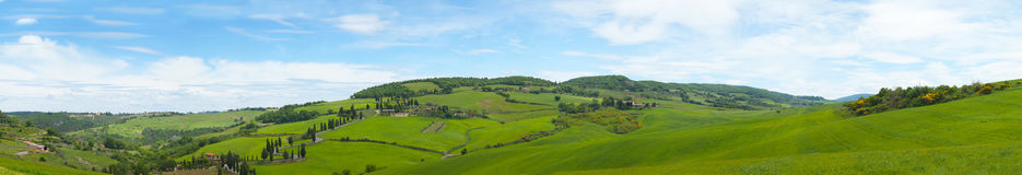 Beautiful panorama of Tuscany Stock Photography