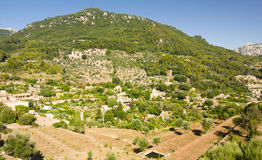 Beautiful panorama of Valldemossa, famous old mediterranean village of Majorca Spain. Royalty Free Stock Image
