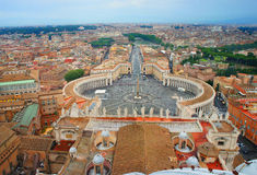 Beautiful panorama of Vatican, Italy Stock Images