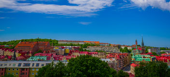 Beautiful panorama view of downtown Gothenburg Stock Photos