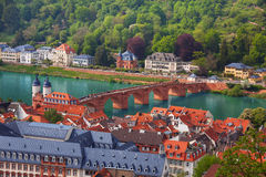 Beautiful panorama view of Heidelberg, Germany Stock Photos