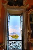 Sumptuous baroque palace interior Isola Bella Lago Maggiore Italy stock photography