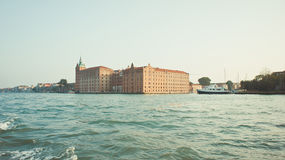 View of Venice from the sea Royalty Free Stock Image