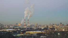 Beautiful panorama of winter Moscow stock video