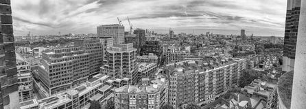 Beautiful panoramic aerial view of London buildings Royalty Free Stock Image