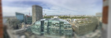 Beautiful panoramic aerial view of London buildings Royalty Free Stock Images