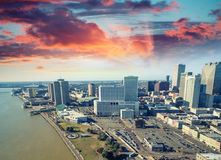 Beautiful panoramic aerial view of New Orleans - Louisiana - USA Stock Photography