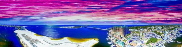 Free Beautiful Panoramic Aerial View Of Destin Harbor At Sunset, Florida Royalty Free Stock Photos - 105476328
