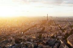 Beautiful panoramic aerial view of Paris Stock Photos