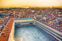 Beautiful panoramic Aerial View of Venice Royalty Free Stock Images