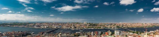 Beautiful panoramic cityscape of Istanbul. Istanbul, Turkey view of the city. Beautiful panoramic cityscape Stock Photo