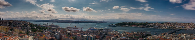 Beautiful panoramic cityscape of Istanbul Royalty Free Stock Photos