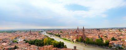 Beautiful panoramic cityscape of Verona city Stock Photo