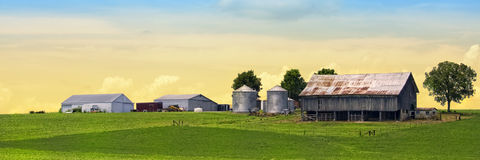 Beautiful panoramic farm Royalty Free Stock Photos