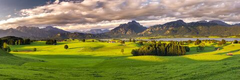 Free Beautiful Panoramic Landscape In Bavaria, Germany Royalty Free Stock Photos - 215339098