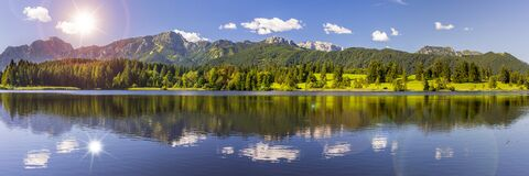 Free Beautiful Panoramic Landscape In Bavaria, Germany Royalty Free Stock Image - 215339306