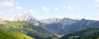 Beautiful panoramic landscape of Italian Alps Royalty Free Stock Image