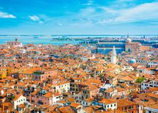 Beautiful panoramic landscape of San Marco. Famous district with many landmarks in Venice, Italy Stock Photo