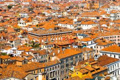 Beautiful panoramic landscape of San Marco. Famous district with many landmarks in Venice, Italy Stock Photos