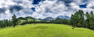 Beautiful panoramic mountains landscape in Jammu and Kashmir, In Royalty Free Stock Photo