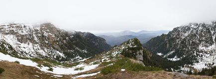 Beautiful panoramic of moutains Stock Image
