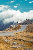 Beautiful panoramic nature in the mountains. stock photography
