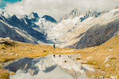 Beautiful panoramic nature in the mountains. royalty free stock images