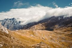 Beautiful panoramic nature in the mountains. royalty free stock photography