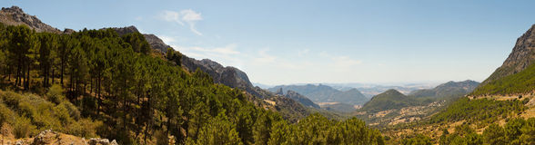 Beautiful panoramic photo of mountain landscape. Royalty Free Stock Images