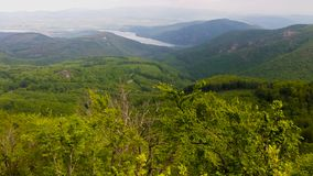 Beautiful panoramic photo of the river valley of Duna, at Visegrad, Hungary stock images