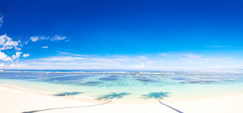 Beautiful panoramic scene of beautiful beach Stock Photo
