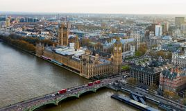 Beautiful panoramic scenic view on London's southern part from w Royalty Free Stock Photos
