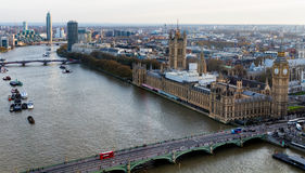 Beautiful panoramic scenic view on London's southern part from w Royalty Free Stock Image