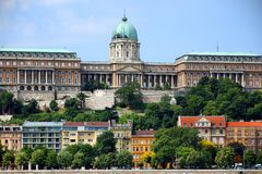 A beautiful panoramic view of Buda Castle. Buda Castle is the historical castle and palace complex of the Hungarian kings in Budapest. It was first completed in stock images