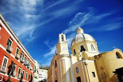 Beautiful panoramic view  church of Procida Royalty Free Stock Photo