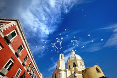 Beautiful panoramic view  church of Procida Stock Photos