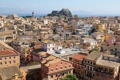 Beautiful panoramic view of Corfu, Greece Royalty Free Stock Photos