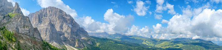 Beautiful panoramic view of the dolomites in italy stock photos
