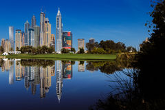 A beautiful panoramic view of Dubai Marina in United Arab Emirates Stock Photos