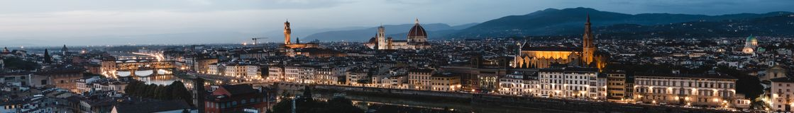 Beautiful panoramic view of Firenze from Piazzale MichelangeloFlorence in Tuscany, Italy, Europe stock photography