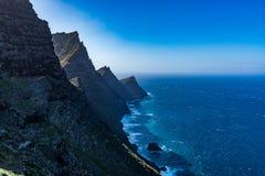 Beautiful panoramic view of Grand Canary (Gran Canaria) coastline landscape from Mirador de Balcon viewpoint Stock Photos