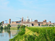 Beautiful panoramic view of the historic city of Mantua in Lombardy, Italy Stock Photo