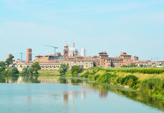 Beautiful panoramic view of the historic city of Mantua in Lombardy, Italy Royalty Free Stock Photo