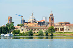 Beautiful panoramic view of the historic city of Mantua in Lombardy, Italy Stock Image