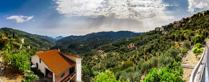 Beautiful panoramic view of italien mountains, tourism concept Royalty Free Stock Photo