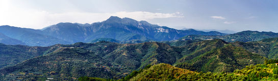 Beautiful panoramic view of italien mountains, tourism concept Royalty Free Stock Images