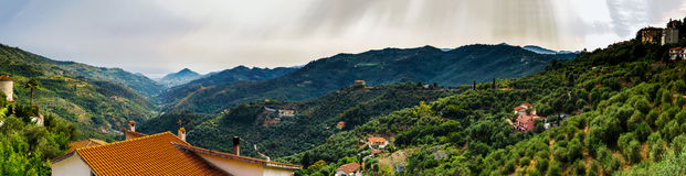 Beautiful panoramic view of italien mountains, tourism concept Stock Images