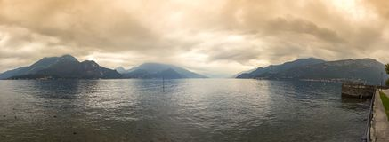 Panoramic view of Lake Como in Bellagio town, Italy Stock Image